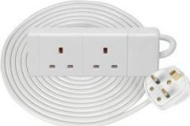 Mercury 429.747 10m 13A 2 Gang Extension Lead - White