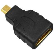 mumbi MICRO HDMI auf HDMI Adapter - vergoldet + zertifiziert - HDMI Buchse (19pol) auf mikro HDMI Stecker - Adapter mit Ethernet - Audio Rückkanal