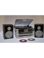 Steepletone SMC1033 6-in-1 Music System with CD & MP3 Recording Silver