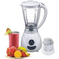 Designer Habitat White 1.5 Litre Jug Blender and Multi-Mill. 2 Speed-400 Watt, Pulse Rotation & Stainless Steel Blade