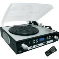 INOVALLEY Retro10E Chaîne hifi Rétro avec platine vinyle et CD FM USB