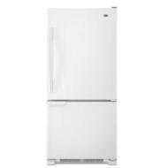 Maytag 19 cu. ft. Bottom-Freezer Refrigerator w/ Spill-Catcher Shelves - White