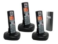 Wireless Door Entry Intercom Three DECT Phone and Door Bell