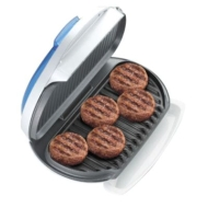 George Foreman Family-sized Grill With Indigo Bun Warmer