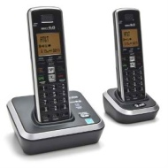 AT&T ATT AT3211-2 DECT 6.0 Digital Dual-Handset Phone With Caller ID - Call Waiting, Black - Silver