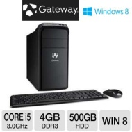 Gateway Intel Core i5 500GB HDD 4GB RAM Desktop PC