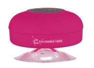 Splash Shower Tunes Waterproof Bluetooth Wireless Shower Speaker Portable Speakerphone (Pink) By FreshETech