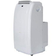 Sunpentown 9,000-BTU Portable Dual-Hose Air Conditioner - Off-White