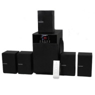 Theater Solutions TS509 5.1 Speaker System - 400 W RMS - Glossy Black - 20 Hz - 20 kHz - Surround Sound, Dolby Pro Logic