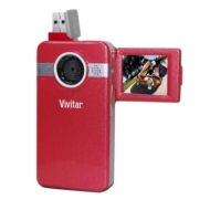 Vivitar Digital Video Recorder with 1.8-inch 180 degree Swivel LCD - Red