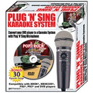 Emerson MM205S Plug N Sing Karaoke Microphone with Echo and 30 Pop Karaoke Songs DVD