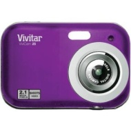 Vivitar V25 Freiberuflich Digitalkamera - Purpurrot (2.1MP, Vorbetrachtung-Schirm 1.5&quot; , Speicher bis zu 120 Bildern, Videoclips)