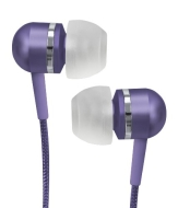 Coby Jammerz Platinum High-Performance Isolation Stereo Earphones CVEM79PUR (Purple)