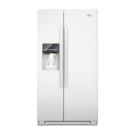 GSF26C4EXW Whirlpool Gold Energy Star 26 Cu. Ft. Side-by-Side Refrigerator - White