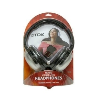 TDK Electronics NC100 Noise Cancellation Headphone (Metallic Silver/black)