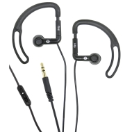 iHip IP-SEP68-BK Sport Earphones with Volume Control (Black)