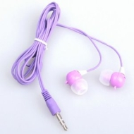 BestDealUK Purple Cute Rabbit 3.5mm Earphone In-ear Headphone Earbud For iPhone 4 4G MP3 PC