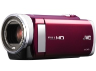 "JVC GZ-E200RUS - HD Everio Camcorder f1.8 40x Zoom 3.0"" Touchscreen (Red)"