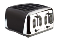Prestige Deco Toaster, Black, 4 Slice