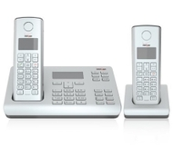 Verizon V500AM-2 Cordless Phone with Two Lines and Extension Handset (Silver)