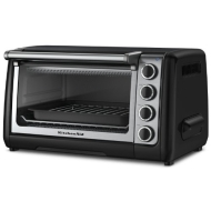 KitchenAid KCO111OB - 10-in Countertop Oven w/ Bake, Broil & Roast, Onyx Black