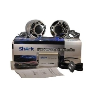 "Shark SHKMRC3080DBC 250w motorcycle snowmobile audio system W ' 3"" speakers"