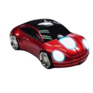 Car Mouse With Lights / Metallic Red