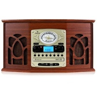 Auna NR-620 - Chaîne hifi stéréo avec platine vinyle, lecteur cassette, CD et USB pour lecture MP3 (fonction numérisation, sortie casque, télécommande