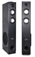 VM Audio EXAT21 Black Floorstanding Powered Bluetooth Tower Home Speakers Pair