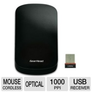 Gear Head Mp3500wt Wireless Touch Nano Mouse - 2.4ghz, Optical, Black