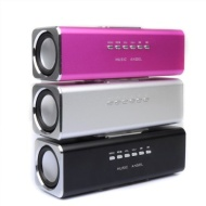 GadgetinBox™ Rechargeable Music Angel Docking Speakers For Apple iPhone's / iPod's (Silver)