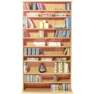 HARROGATE - CD / DVD / Blu-ray Media Storage Shelves - Pine