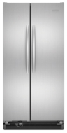KitchenAid Architect Series II Monochromatic Stainless Steel Side-By-Side Refrigerator - KSCS25MVMS
