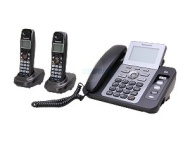 Panasonic KXTG9472B DECT 60 2Lines Phone with Digital Answering System and Contact Sync Black 2 Handsets