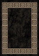 Optimum BCF Black Contemporary Rug