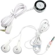 U-Bop Sony PSP Slim & Lite 2000 Stereo Earphone Inline Remote Control & Stereo Headset (White)