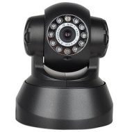 Wireless Infrared Motion Night Vision Network Color Camera w/Pan & Tilt Control, Microphone