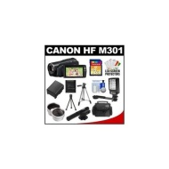 Canon Vixia HF M301 Flash Memory HD Digital Video Camcorder