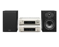 Denon D-F109DABCSPBKEK CD System with DAB Receiver, CD Player and Speaker - Silver/Black
