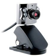 Nexos 4 MegaPixel 2304*1728 Video Webcam - USB - With 6 LED Lights and Microphone