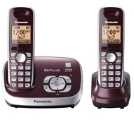 Panasonic KX-TG6572R Dect 6.0 Plus Expandable Digital Cordless Phone w