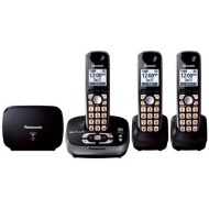 Panasonic KX-TG4053B DECT 6.0 Cordless Phone w/ Answering System and 2