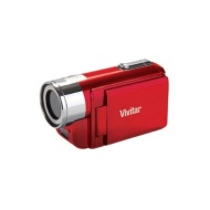 Vivitar DVR528 5.1 Megapixel Digital Video Camcorder - Red (5.1MP, 2.0'' Screen, 720P HD Recording, 4x Zoom)