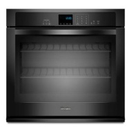 "Whirlpool 27"" Electric Wall Oven w/ SteamClean Option - Black"