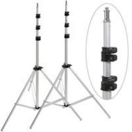 "Adorama ""Set-of-2"" Pro 10' Air Cushioned Light Stand -5/8"" top stud with 1/4-20"" screw thread"
