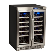 36 Bottle Built-In Dual Zone French Door Wine Cooler