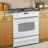 "GE Profile 30"" Slide-In Gas Range"