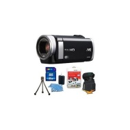 "JVC GZ-EX250BUS - HD Everio Camcorder 3"" Touchscreen 40x Zoom f1.8 WiFi 16GB Bundle"
