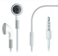 iphone 2g 3g 3gs headphone with microphone (White)