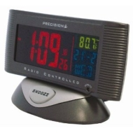 Precision Colour LCD Radio Controlled Alarm clock with night time feature